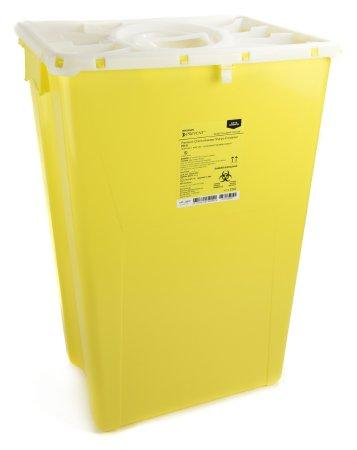 McKesson™ 18 Gallon Yellow Chemotherapy Sharps Container McKesson Prevent®