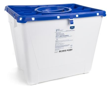 McKesson™ 8 Gallon Blue Pharmaceutical Waste Container Prevent®