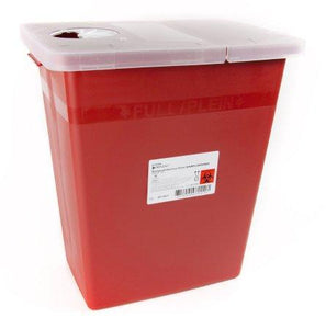 McKesson™ 8 Gallon Red Sharps Container McKesson Prevent® Hinged Lid