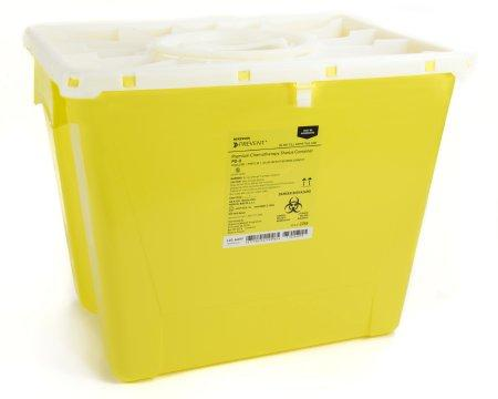 McKesson™ 8 Gallon Yellow Sharps Container McKesson Prevent® Chemotherapy