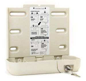 McKesson Prevent® Sharps Collector Bracket Locking Wall Cabinet Plastic