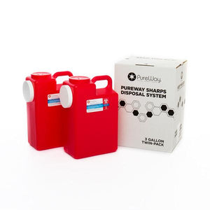 3 Gallon Sharps Disposal Mailback System- 2 pack
