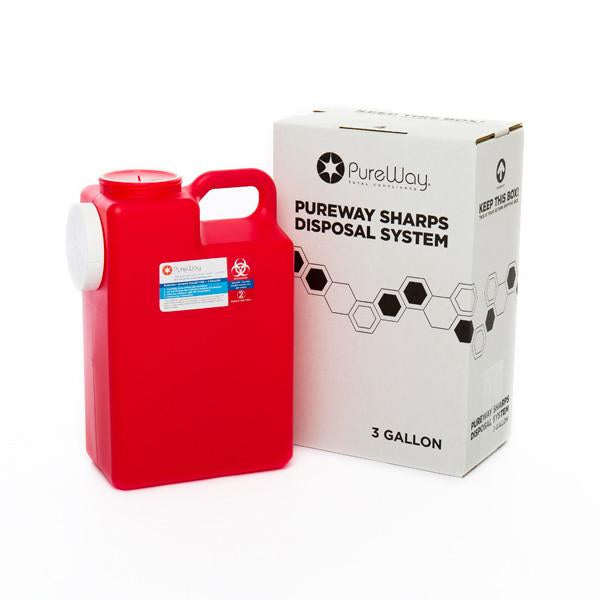 3 Gallon Sharps Disposal Mailback System