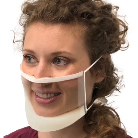 Procedure Mask ClearMask™ Anti-fog Elastic Strap One Size Fits Most Transparent NonSterile