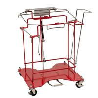 SharpsCart™ 8 Gallon Sharps Collector Cart Foot Operated Cart Metal