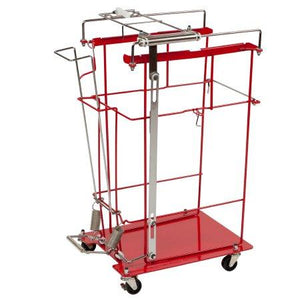 SharpsCart™ Sharps Collector Cart Foot Operated Cart Metal 12 or 18 gallon