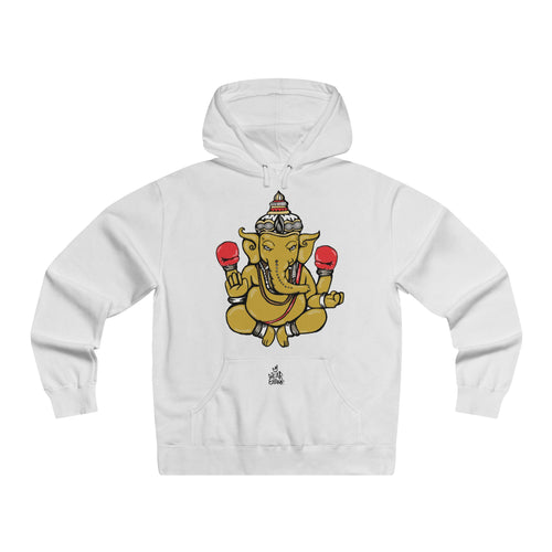 The 'Enlighten Champion' Lightweight Hoodie in White