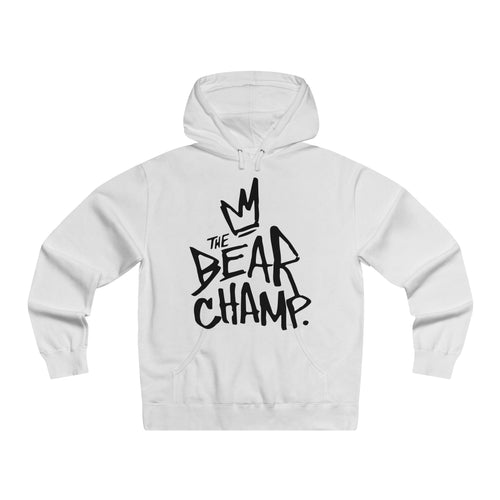 The 'Bear Champ Tag' Lightweight Hoodie in White