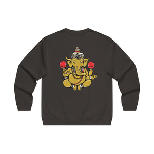 The 'Ganesh' Backside Midweight Crewneck in Black