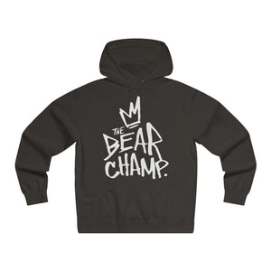 The 'Bear Champ Tag' Lightweight Hoodie in Black