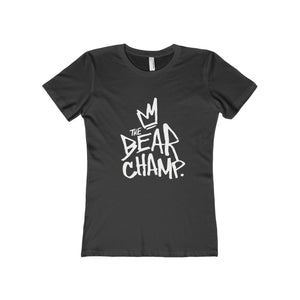 The 'Bear Champ Tag' Boyfriend Tee in Black