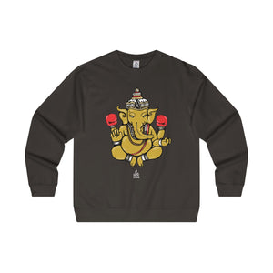 The 'Ganesh' Midweight Crewneck in Black