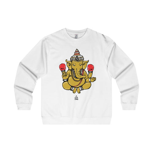 The 'Ganesh' Midweight Crewneck in White