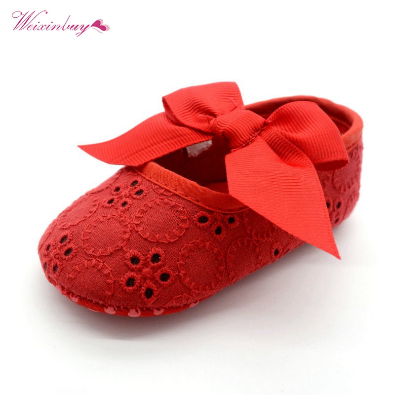 Baby Girl Bowknot Lace Shoes