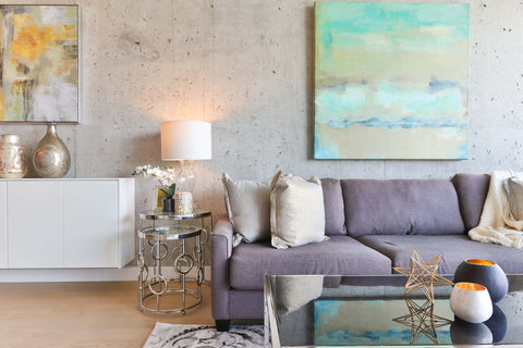 clean home with grey couch