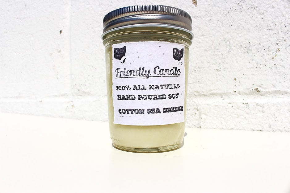 Cotton Sea Breeze 100% Soy Friendly Candle