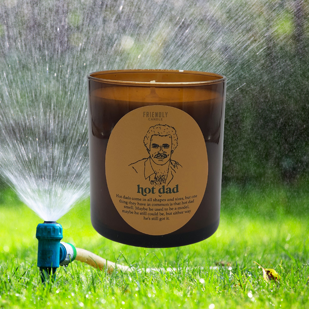 Hot Dad Amber & Teakwood Soy Candle