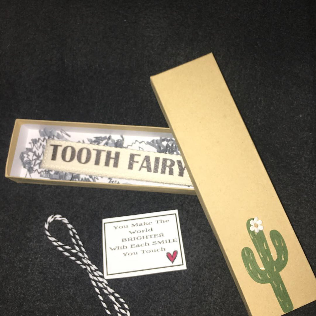 TOOTH FAIRY CANVAS KEY FOB