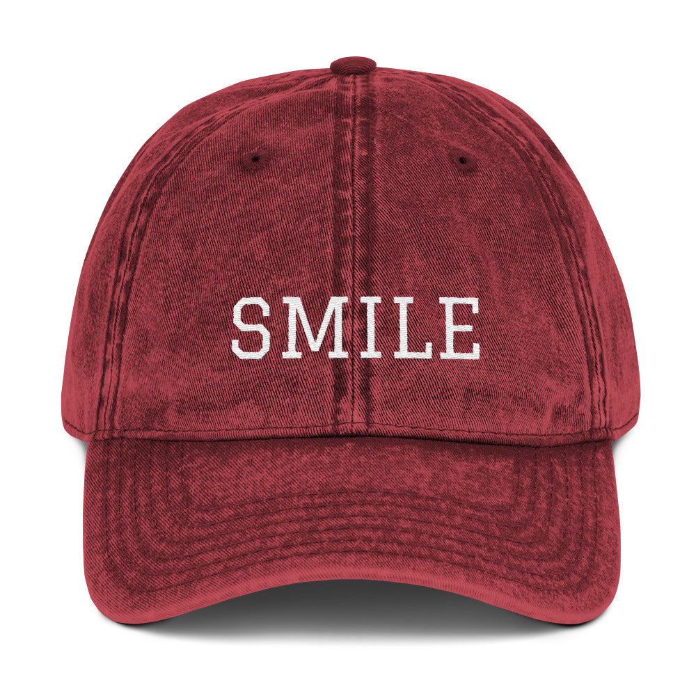 SMILE Vintage Cotton Twill Cap