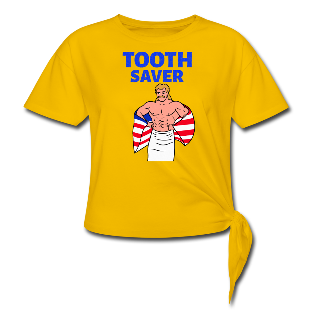Tooth Saver Wrestling Tee - sun yellow