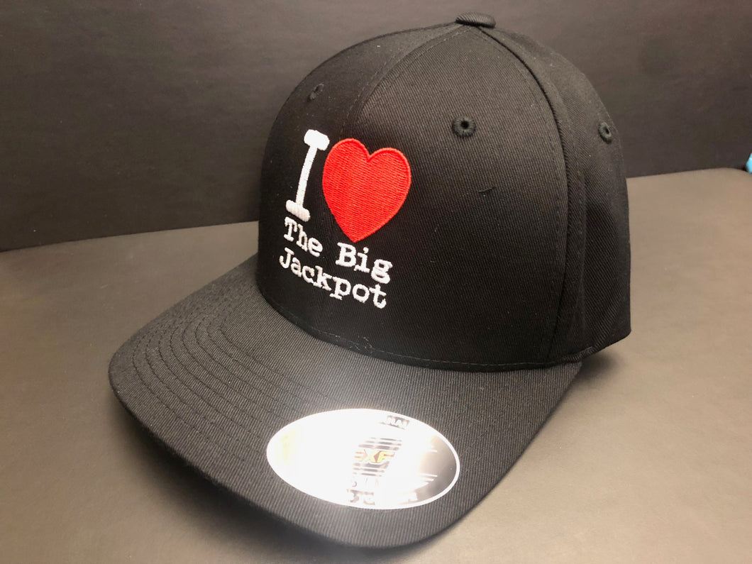 I Love TBJ Fitted Hat - Solid Black