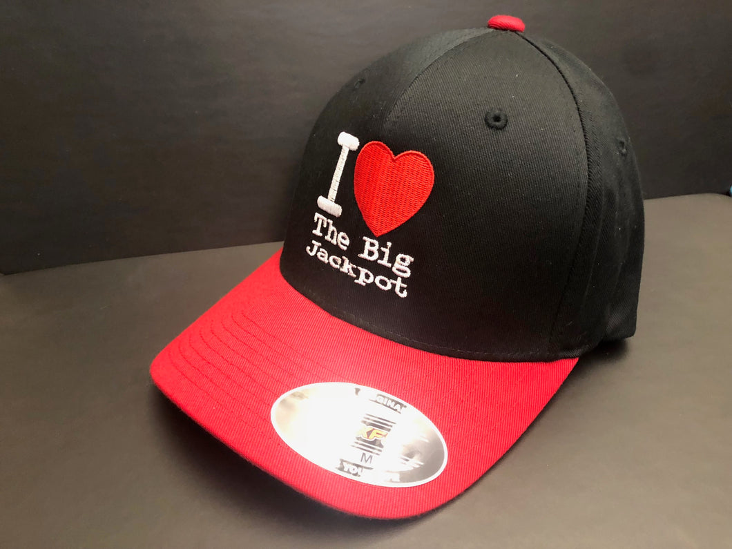 I Love TBJ Fitted Hat - Red & Black