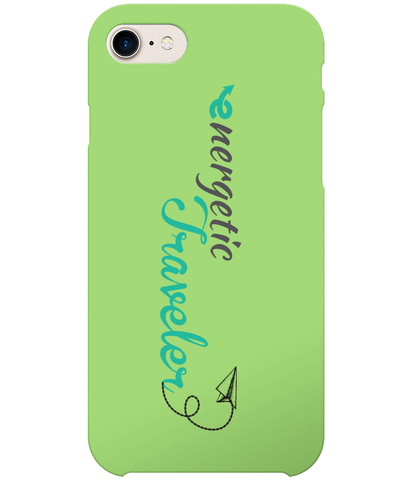 Carcasa en varios colores para iPhone 8 - Energetic Traveler logo