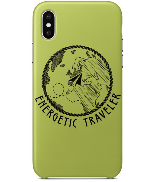 Carcasa en varios colores para iPhone X - Energetic Traveler Globe