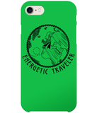 Carcasa en varios colores para iPhone 8 - Energetic Traveler Globe