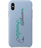 Carcasa en varios colores para iPhone X - Energetic Traveler logo