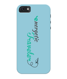 Carcasa en varios colores para iPhone 5/5S/SE - Energetic Traveler logo