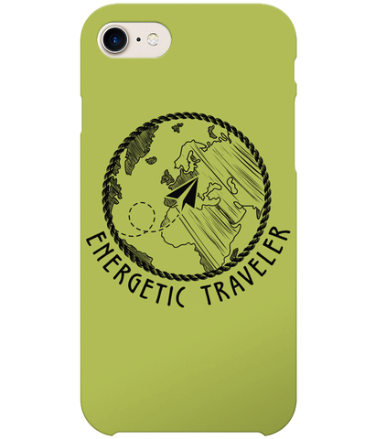 Carcasa en varios colores para iPhone 7 - Energetic Traveler Globe