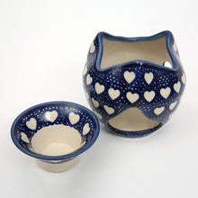 Polish Pottery Aroma Lamp Oil Burner-2 Piece
