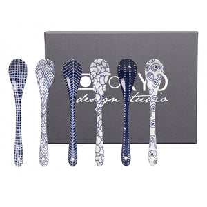 Spoon Set 6 Pieces in Bleu De Nimes
