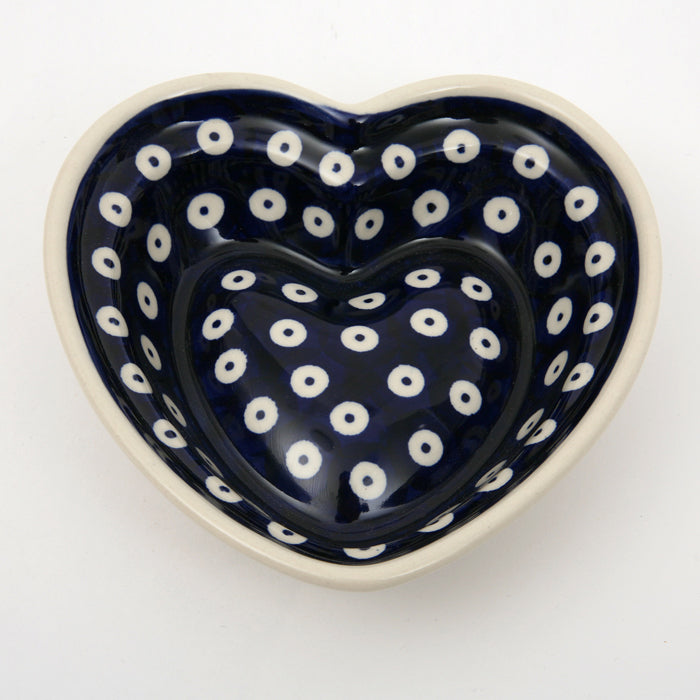 Heart Shape Dish Small Blue Spot