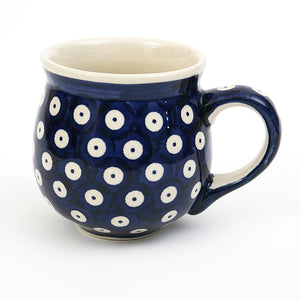 Belly Mug Medium Blue Spot