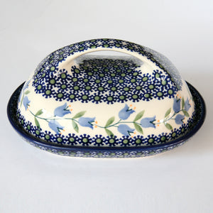Butterdish large handle Harebell
