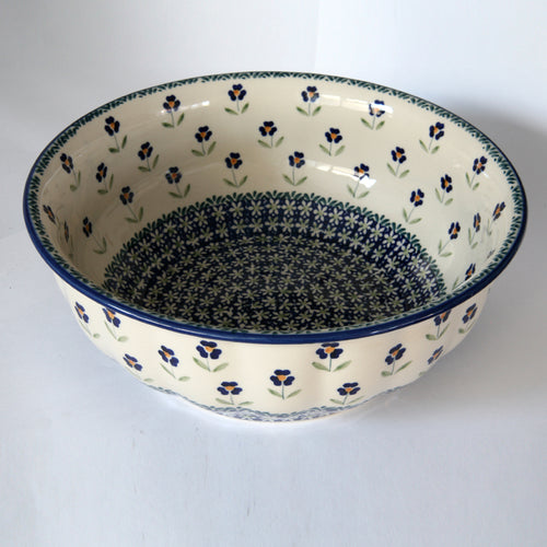Rippled bowl 30 cm Field of Flowers