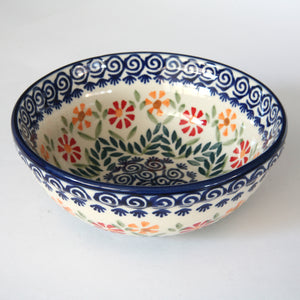 Muesli bowl (s) dia. 15cm Orange & Red flowers