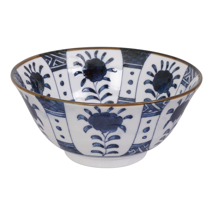 Mixed Bowl Blue and White 15x6.8cm