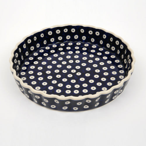 Quiche Dish Medium Blue Spot