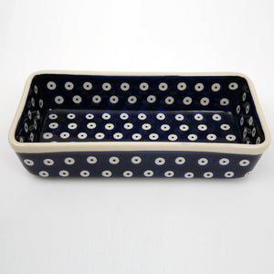 Rectangular Dish Blue Spot