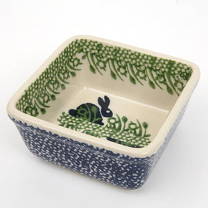 Square Dish Small Rabbits