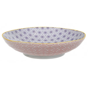 Star Wave Pasta Bowl in Purple 21x5.2cm