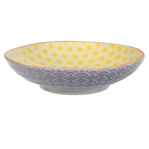 Star Wave Pasta Bowl in Yellow 21x5.2cm