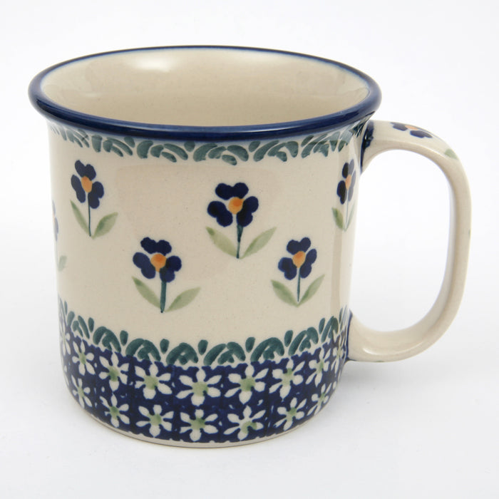 Large Straight Mug with Large Handle Field of Flowers