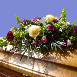 Cherished Memories Casket Spray