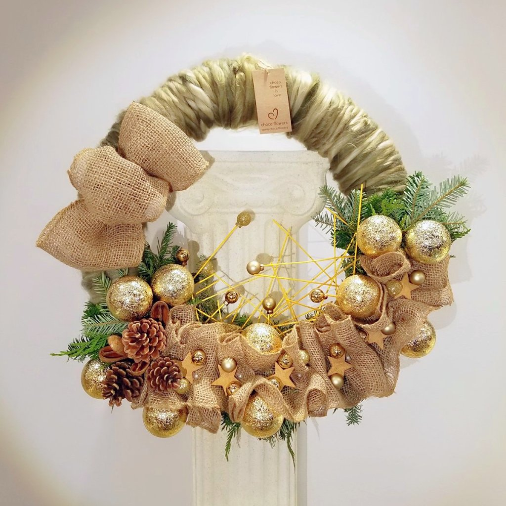 Christmas Wreath - Golden