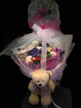 Love combination(flowers, flower balloons, doll)