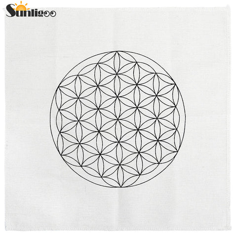 Printed Sacred Geometry Crystal Grid Altar Cloth
